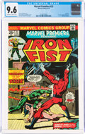 Bronze Age (1970-1979):Superhero, Marvel Premiere #23 Iron Fist (Marvel, 1975) CGC NM+ 9.6 Off-white to white pages....
