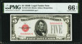 Small Size:Legal Tender Notes, Fr. 1527 $5 1928B Legal Tender Note. PMG Gem Uncirculated 66 EPQ.. ...