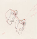 Animation Art:Production Drawing, Snow White and the Seven Dwarfs Vultures Animation Drawing (Walt Disney, 1937)....
