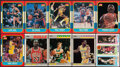 Basketball Cards:Lots, 1980 to 1987 Topps and Fleer Basketball Collection (10) With Bird/Magic Rookie Card! ...