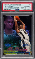 Basketball Cards:Singles (1980-Now), 1997 Flair Tim Duncan Legacy Collection Row 2 #5 PSA Gem Mint 10 - Serial Numbered 70/100, Pop One!...