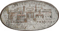 1825 New York, New York, Rathbone & Fitch, Castle Garden, R. E-NY-654C, High R.6, VF35 NGC. Silvered brass, plain ed...