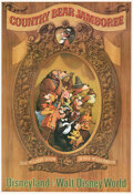 "Memorabilia:Poster, ""Country Bear Jamboree"" Disneyland Park Attraction Poster (Walt Disney, c. 1970s). ..."