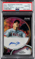 Baseball Cards:Singles (1970-Now), 2011 Bowman Sterling Mike Trout Black Refractor Rookie Autograph #19 PSA Gem Mint 10 - Serial Numbered 15/25! ...