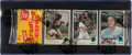 Baseball Cards:Unopened Packs/Display Boxes, 1973 Topps Baseball (First Series) Rack Pack - With Clemente Top Card. ...