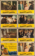 """Movie Posters:Drama, The Magnificent Ambersons (RKO, 1942). Overall: Very Fine-. Title Lobby Card & Lobby Cards (7) (11"""" X 14"""") Norman Rockwell T... (Total: 8 Items)"""