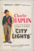 """Movie Posters:Comedy, City Lights (United Artists, R-1950). Folded, Fine-. One Sheet (27"""" X 41""""). Comedy.. ..."""