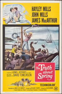 """The Truth About Spring (Universal, 1965). Folded, Overall: Very Fine. One Sheets (2) (27"""" X 41"""") 2 Styles. Rom..."""