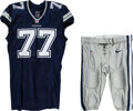 Football Collectibles:Uniforms, 2014 Tyron Smith Game Worn Dallas Cowboys Jersey and Pants - Used 11/27 vs. Eagles....