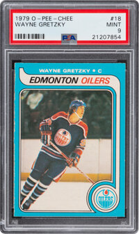 1979 O-Pee-Chee Wayne Gretzky #18 PSA Mint 9 - Only Two Higher
