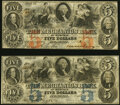 Obsoletes By State:Tennessee, Memphis, TN- Mechanics Bank of Memphis $5 (2) May 31, 1854 as G6d; as G6e Very Fine; About Uncirculated.. ... (Total: 2 notes)