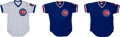 Baseball Collectibles:Uniforms, 1985 Chicago Cubs Game Worn Jerseys Lot of 3.... (Total: 3 items)