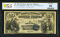 National Bank Notes:Oklahoma, Shawnee, OK - $20 1882 Date Back Fr. 556 The Shawnee National Bank Ch. # (W)5115 PCGS Banknote Very Fin...