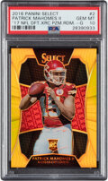 Football Cards:Singles (1970-Now), 2016 Panini Select '17 NFL Draft XRC Patrick Mahomes II Gold Prizm Redemption #2 PSA Gem Mint 10 - Pop One!...