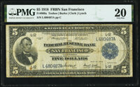 Fr. 809a $5 1918 Federal Reserve Bank Note PMG Very Fine 20