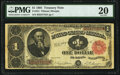 Large Size:Treasury Notes, Fr. 351 $1 1891 Treasury Note PMG Very Fine 20.. ...