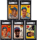 Baseball Cards:Lots, 1954 and 1955 Topps Baseball Shoe Box Collection With Aaron and Koufax Rookie (584). ...