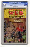 Golden Age (1938-1955):Horror, Web of Mystery #7 Bethlehem pedigree (Ace, 1952) CGC VF 8.0Off-white pages. Mike Sekowsky art. Includes a certificate of au...