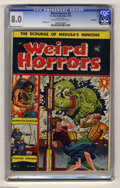 Golden Age (1938-1955):Horror, Weird Horrors #5 Bethlehem pedigree (St. John, 1952) CGC VF 8.0Off-white to white pages. Includes a certificate of authenti...