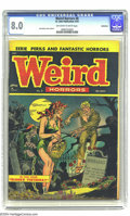 Golden Age (1938-1955):Horror, Weird Horrors #8 Bethlehem pedigree (St. John, 1953) CGC VF 8.0Off-white to white pages. Joe Kubert cover and art. As of th...