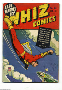 Whiz Comics #23 (Fawcett, 1941) Condition: GD/VG. Only Dr. Voodoo story with George Tuska art. There are some scrapes on...