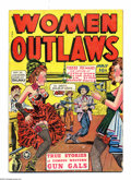 """Golden Age (1938-1955):Western, Women Outlaws #1 (Fox Features Syndicate, 1948) Condition: GD/VG. Used in Seduction of the Innocent, illustrating """"Givin..."""