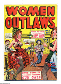 """Women Outlaws #1 (Fox Features Syndicate, 1948) Condition: GD/VG. Used in Seduction of the Innocent, illustrating """"..."""