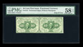 Fractional Currency:First Issue, Fr. 1241 10¢ First Issue Horizontal Uncut Pair PMG Choice About Unc 58 EPQ....