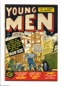 Young Men #6 (Atlas, 1950) Condition: FN+. Sol Brodsky cover. Overstreet 2004 FN 6.0 value = $39; VF 8.0 value = $74