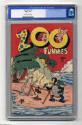 Golden Age (1938-1955):Funny Animal, Zoo Funnies #2 (Charlton, 1945) CGC NM+ 9.6 Off-white to whitepages. One of the very first Charlton comics. This is the hig...