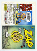 Bronze Age (1970-1979):Alternative/Underground, Zap Comix #0 Uncut Cover Proof (Apex Novelty-Don Donahue, 1968). First printing unused cover flat, featuring art by Robert C...