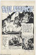 Original Comic Art:Splash Pages, Maurcie del Bourgo - Strange Story #1 Splash Page Original Art(Harvey, 1946). A spectacular pre-code horror title splash pa...