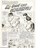 "Original Comic Art:Complete Story, Tom Hickey (attributed) - First Romances #1 Complete 8-page Story""My Heart was Unfaithful!"" Original Art (Harvey, 1949). Hi..."