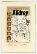 Original Comic Art:Covers, Warren Kremer - Playful Little Audrey #111 Cover Original Art(Harvey, 1973). Cute li'l Audrey makes do on a winter day. Cle...