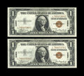 Small Size:World War II Emergency Notes, Fr. 2300 $1 1935A Hawaii Silver Certificates. Two Consecutive Examples. Choice Crisp Uncirculated.. ... (Total: 2 notes)