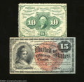 Fractional Currency:First Issue, Two High Grade Fractionals.
