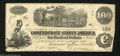 Confederate Notes:1862 Issues, T40 $100 1862. Even wear and no watermark are found on ...