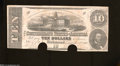 Confederate Notes:1862 Issues, T52 $10 1862.This 2 Series note saw light handling before ...