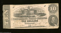 Confederate Notes:1862 Issues, T52 $10 1862. A couple of small tears are found along the ...