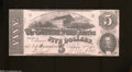 Confederate Notes:1862 Issues, T53 $5 1862. A trace of circulation is found on this $5....