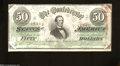 Confederate Notes:1863 Issues, T57 $50 1863. This well preserved 1st Series $50 has ...