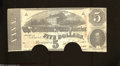 Confederate Notes:1863 Issues, T60 $5 1863. Cancelling blades of the Confederacy produced ...
