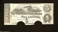 Confederate Notes:1863 Issues, T60 $5 1863. Half moon cancels were the choice of the ...