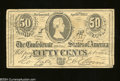 Confederate Notes:1863 Issues, Advertising Replica T63 50 Cents 1863. This ad note is for ...