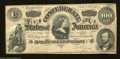 Confederate Notes:1864 Issues, T65 $100 1864. A faint center fold inhabits this C-note.