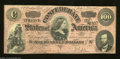 Confederate Notes:1864 Issues, T65 $100 1864. This popular red tint variety has light ...