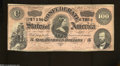 Confederate Notes:1864 Issues, T65 $100 1864. This No Series darker red tint example has ...