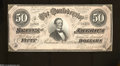 Confederate Notes:1864 Issues, T66 $50 1864. A pre-printing paper crinkle is found on ...