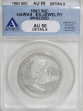 Coins of Hawaii: , 1883 50C Hawaii Half Dollar--Ex-Jewelry, Whizzed--ANACS. AU50Details. NGC Census: (16/203). PCGS Population (41/283). Mint...