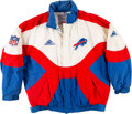 Football Collectibles:Others, Circa 1992 Jim Kelly Game Worn Buffalo Bills Sideline Jacket with Equipment Manager Provenance....